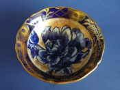 Lovely Royal Doulton 'Blue Rose' Flow Blue Bowl c1920